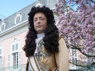 René Werner in der Rolle des Ludwig XIV. Schaulauf der Sonnenkönige -Geliebte Feinde. Die Deutschen und die Franzosen